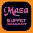 Maza buffet restaurant, derby, perth print design and signage